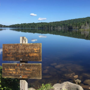 Stratton Pond and signage