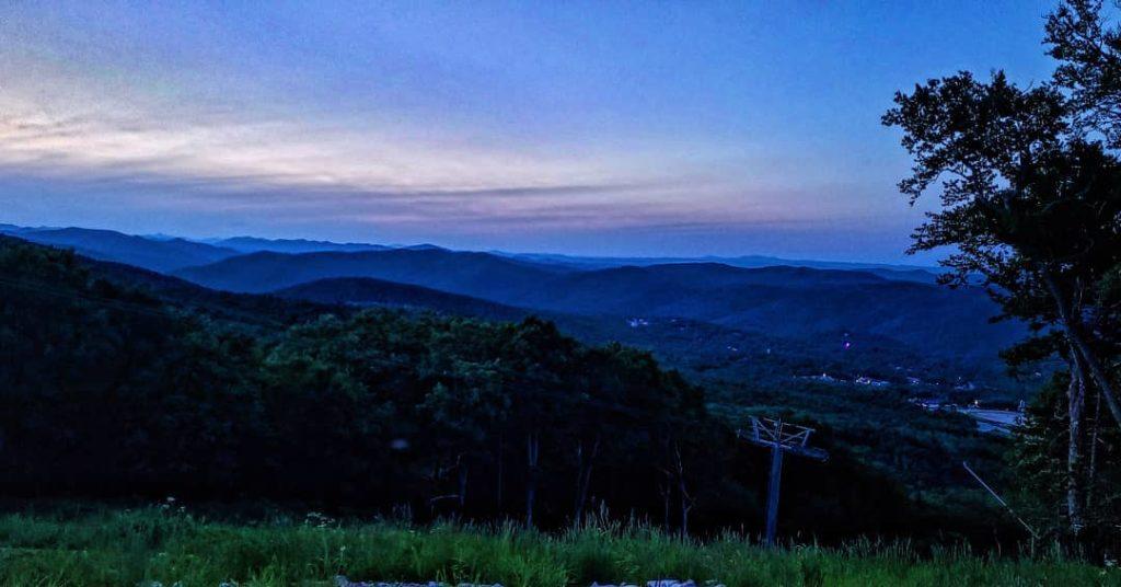 Sunset from Killington Peaks