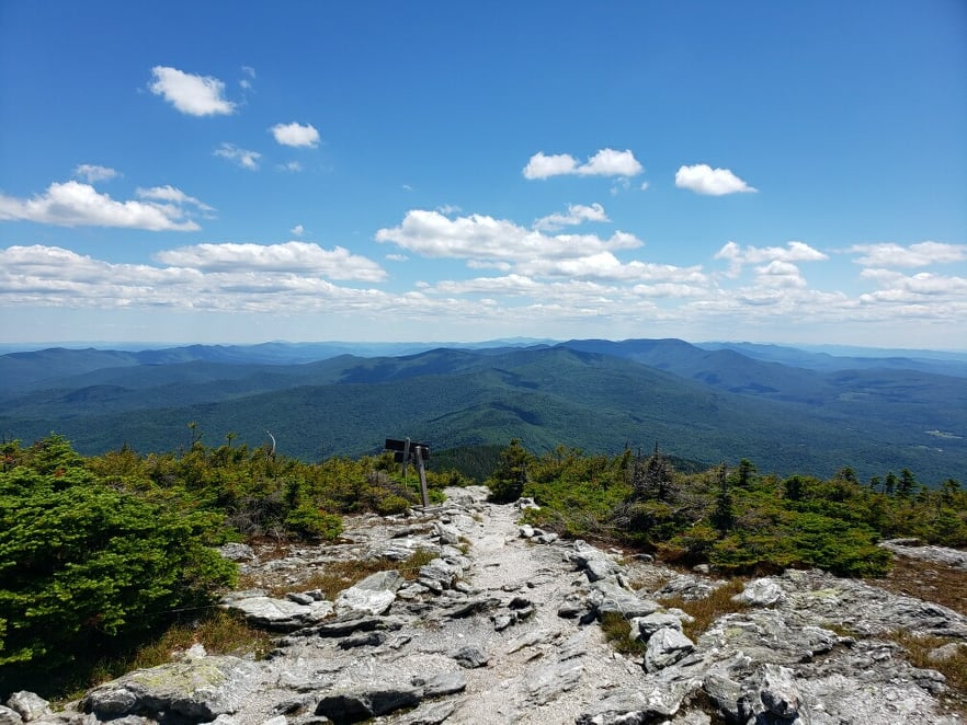 A clear sky view from Mt. Abe peak