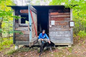 Derick explores the Short Trail at GMC headquarters.
